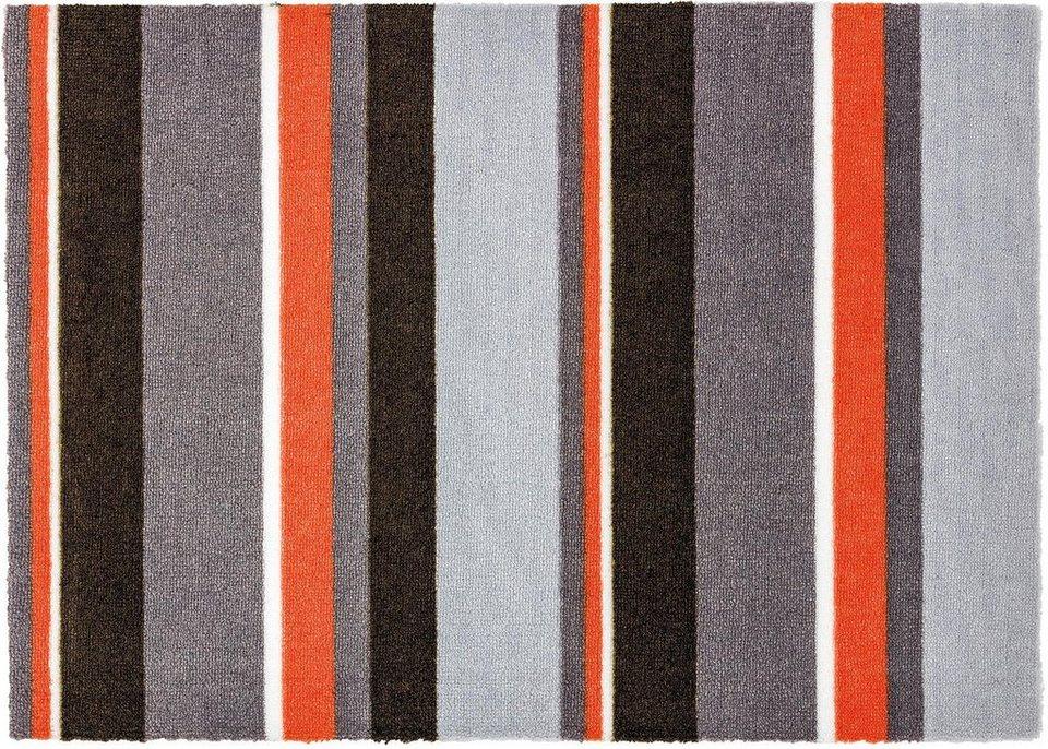 Fußmatte, Schöner Wohnen, »Brooklyn Streifen« in grau/orange