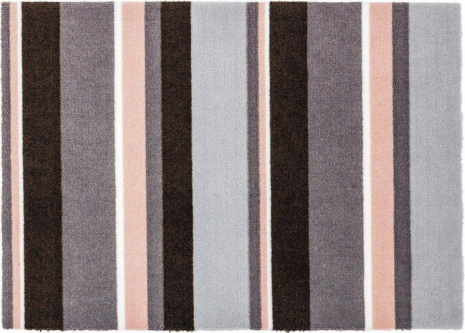 Fußmatte, Schöner Wohnen, »Brooklyn Streifen« in grau/rosa