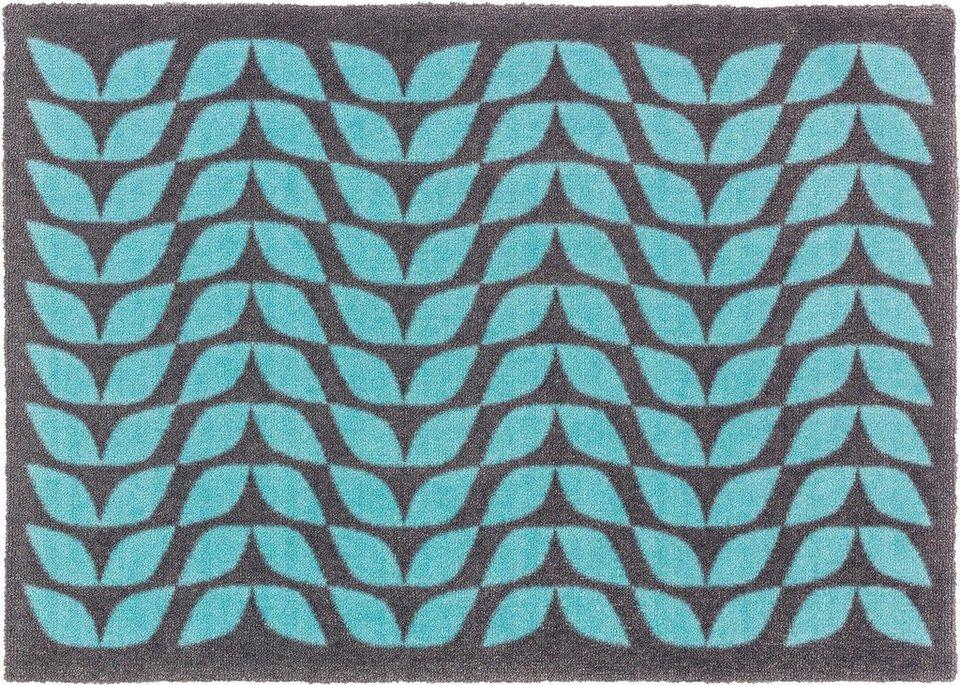 Fußmatte, Schöner Wohnen, »Brooklyn Welle« in blau