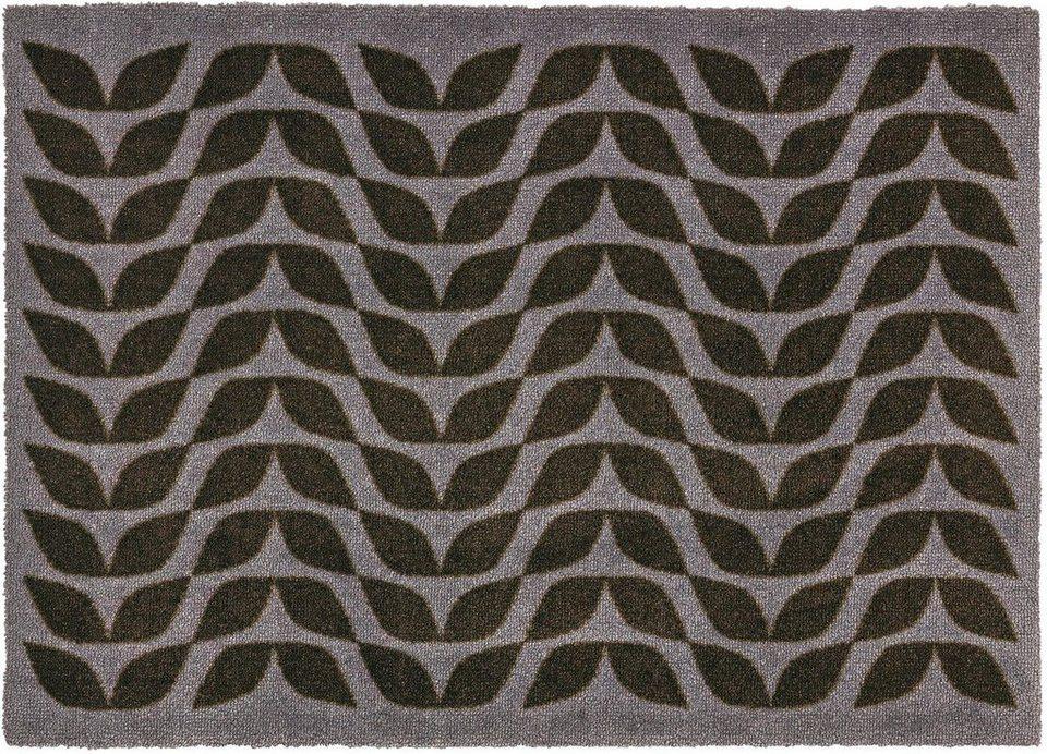 Fußmatte, Schöner Wohnen, »Brooklyn Welle« in dunkelgrau