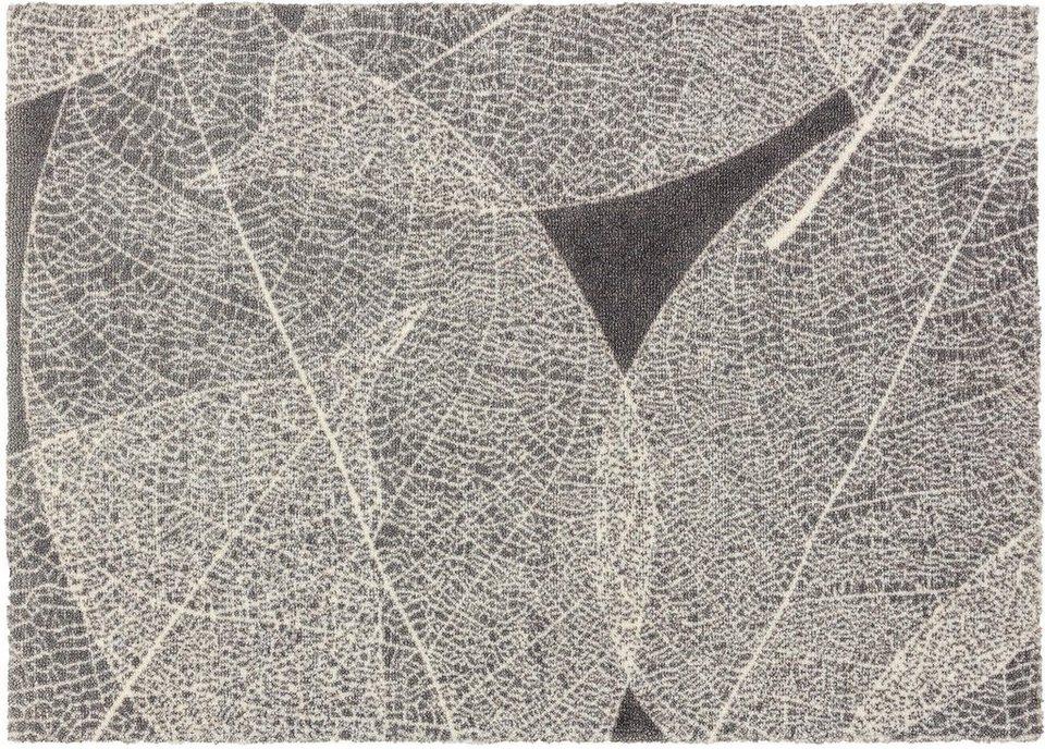 Fußmatte, Schöner Wohnen, »Brooklyn Blatt« in grau