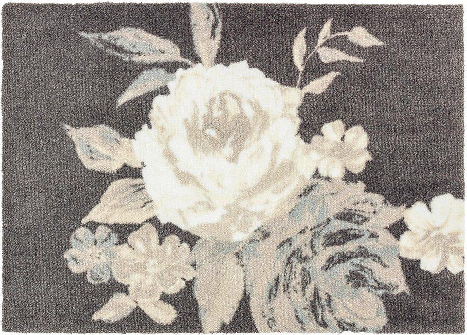 Fußmatte, Schöner Wohnen, »Brooklyn Rose« in grau