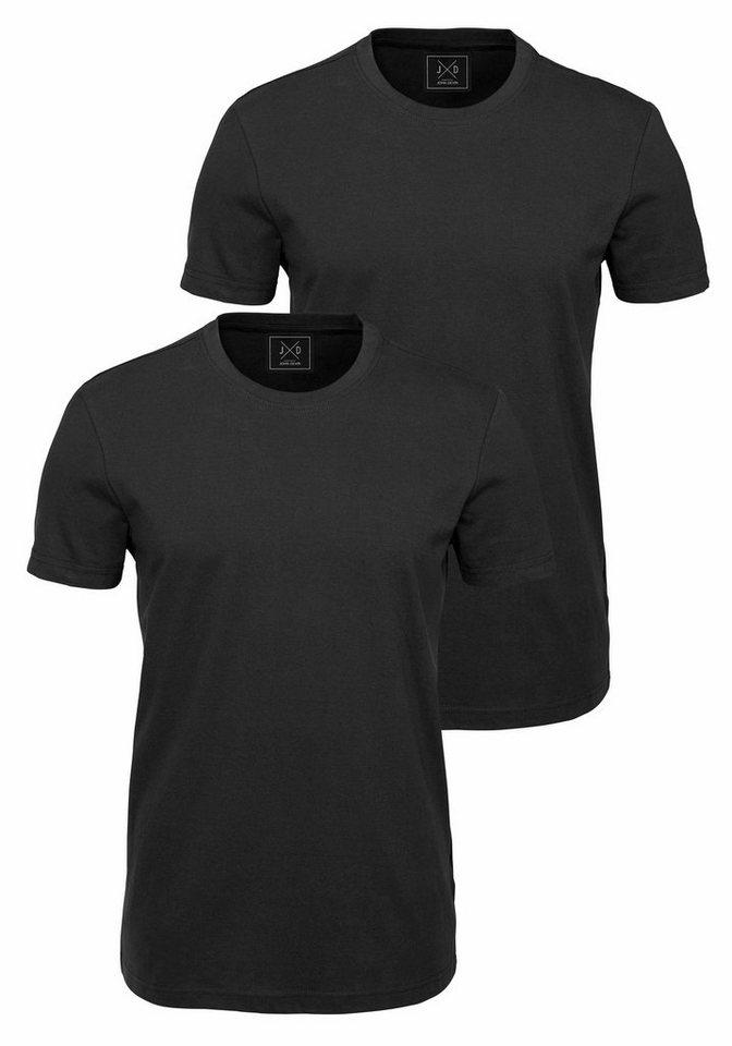 John Devin T-Shirt (Packung, 2er-Pack) in schwarz+schwarz
