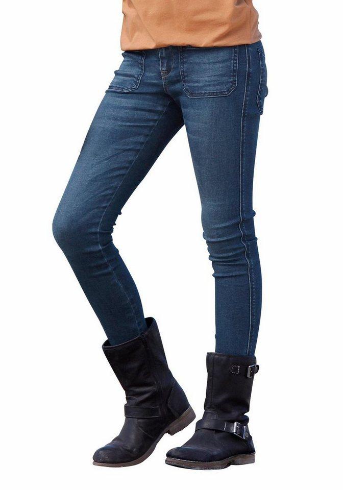 Arizona Stretch-Jeans Super Skinny in blue-denim