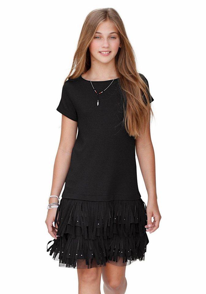 KIDSWORLD Jerseykleid für den festlichen Anlass in schwarz