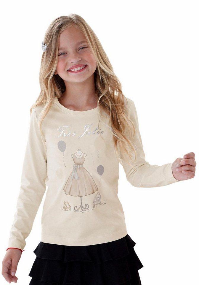 KIDSWORLD Langarmshirt, für Mädchen in Natur