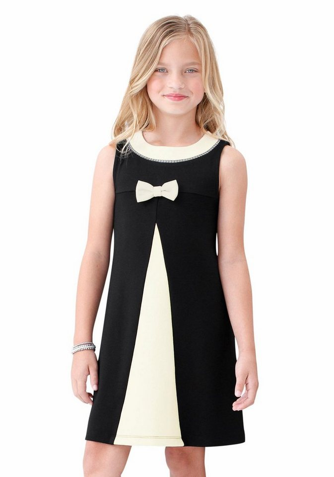 KIDSWORLD Trägerkleid für den festlichen Anlass in schwarz-weiß