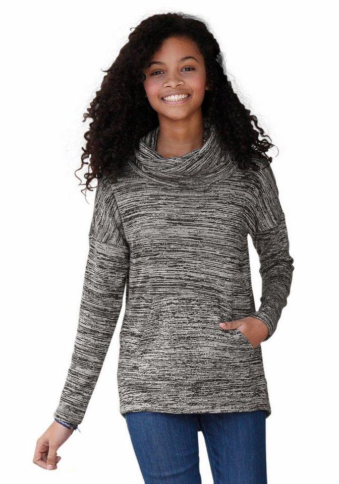 Arizona Oversize-Shirt in lässig, weiter-Form in grau-meliert