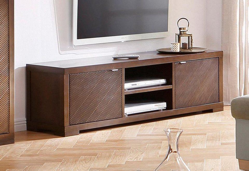 Home affaire TV-Lowboard »Oregon«, Breite 160 cm in dunkelbraun
