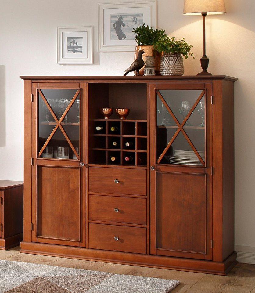 home affaire highboard cross breite 140 cm otto. Black Bedroom Furniture Sets. Home Design Ideas