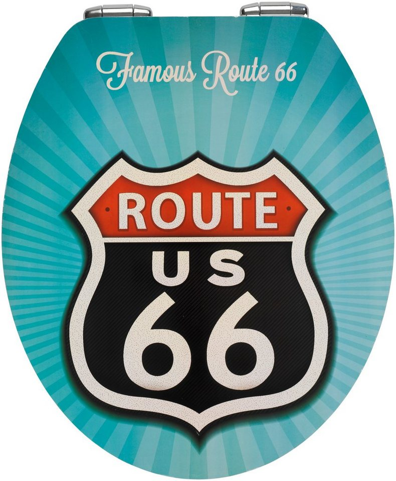 WC-Sitz »Route 66«, Mit Absenkautomatik in bunt/weiß