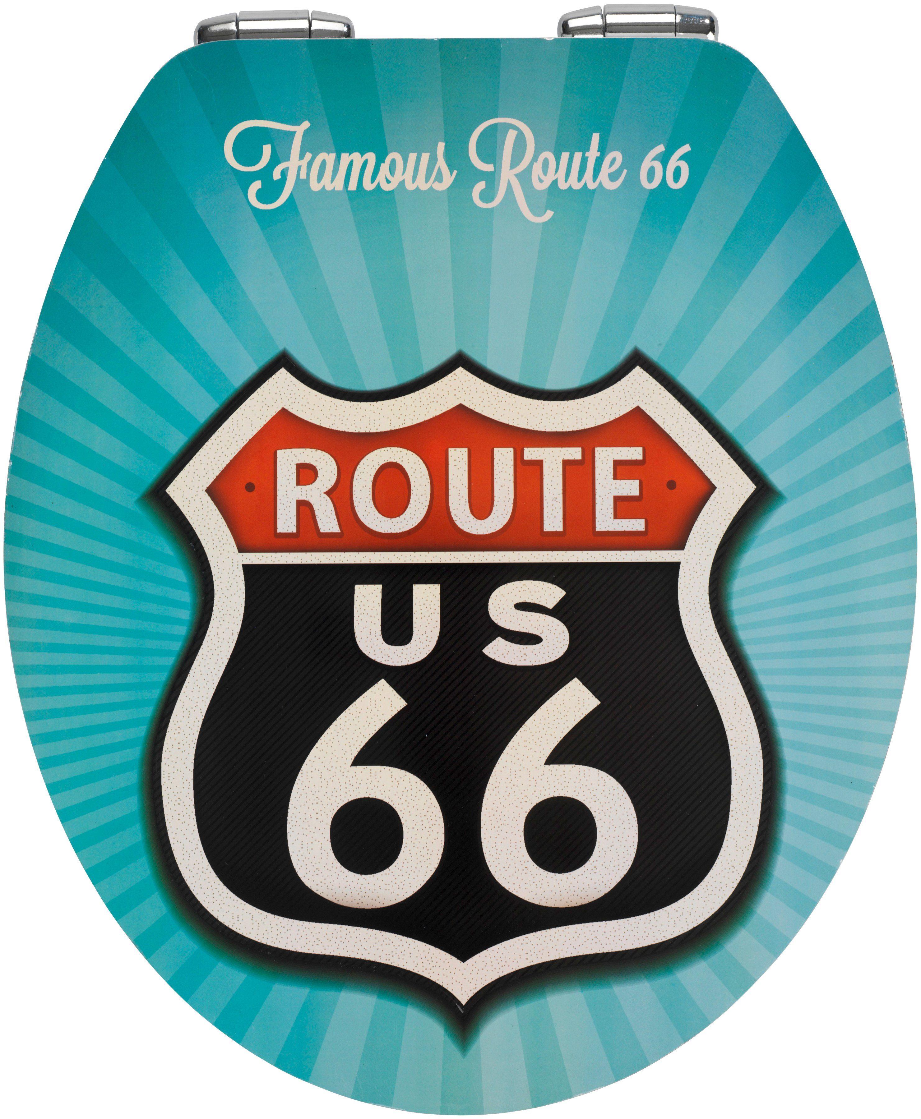 Wenko WC-Sitz »Route 66«, Mit Absenkautomatik