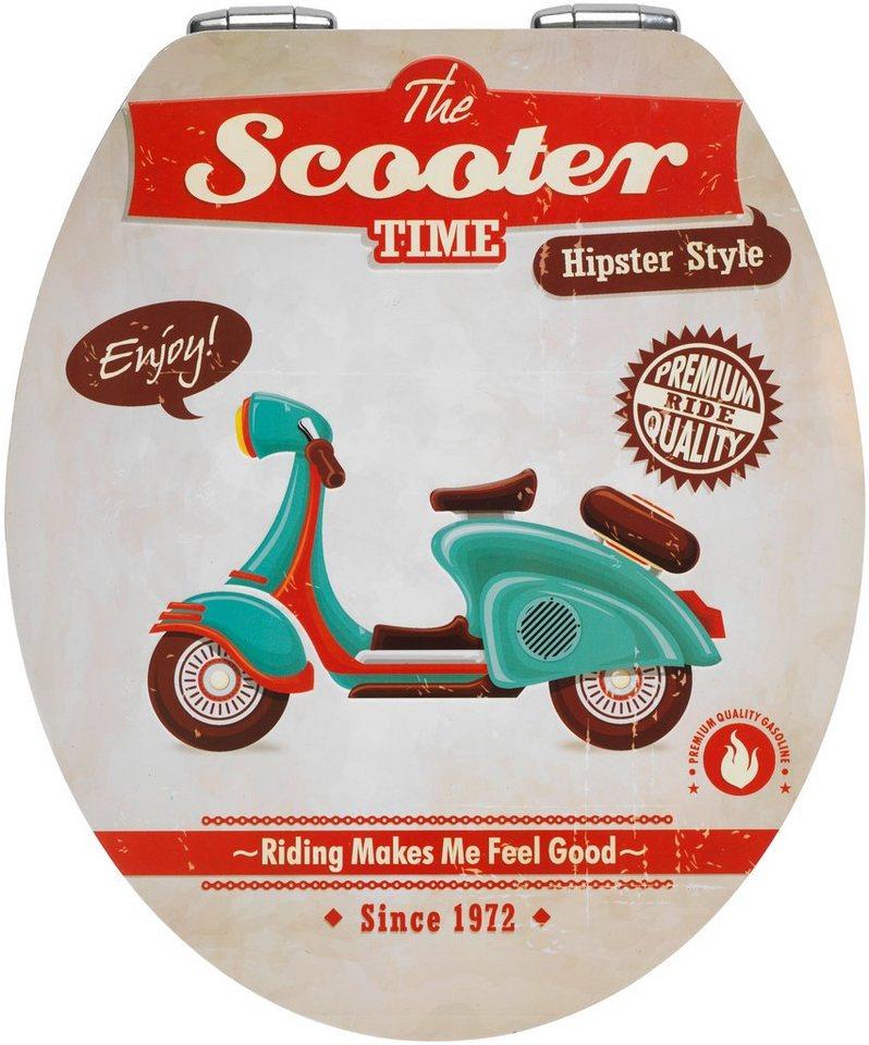 WC-Sitz »Scooter«, Mit Absenkautomatik in bunt/weiß