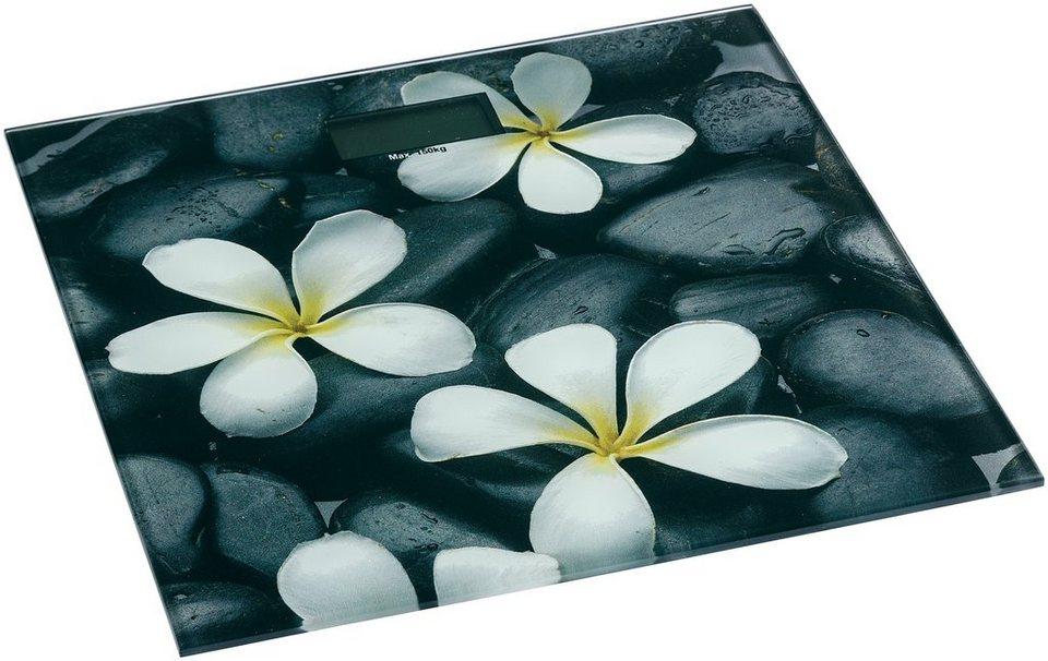 Personenwaage »Bloom« in schwarz/weiß