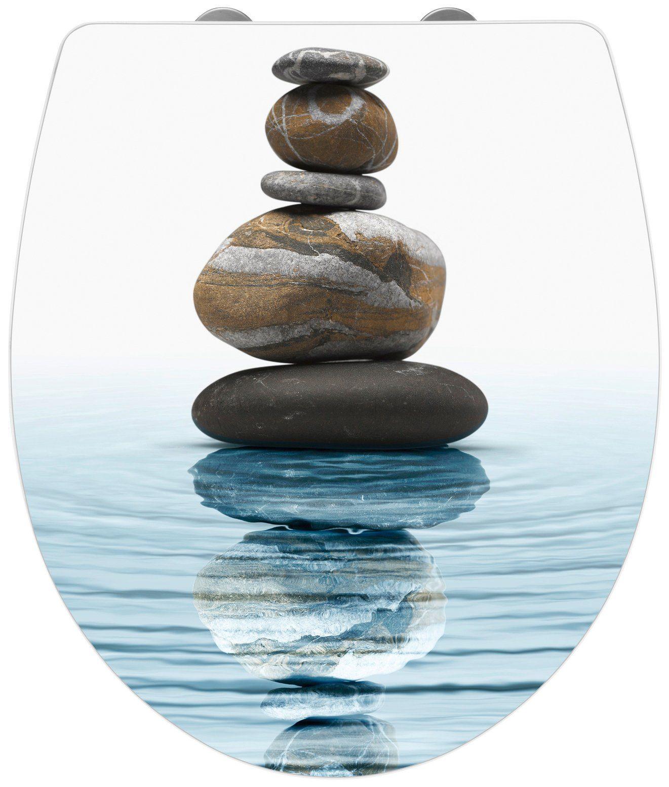 Wenko WC-Sitz »Meditation«, Mit Absenkautomatik