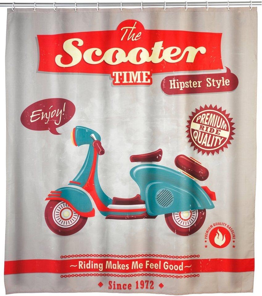 Duschvorhang »Scooter« in bunt