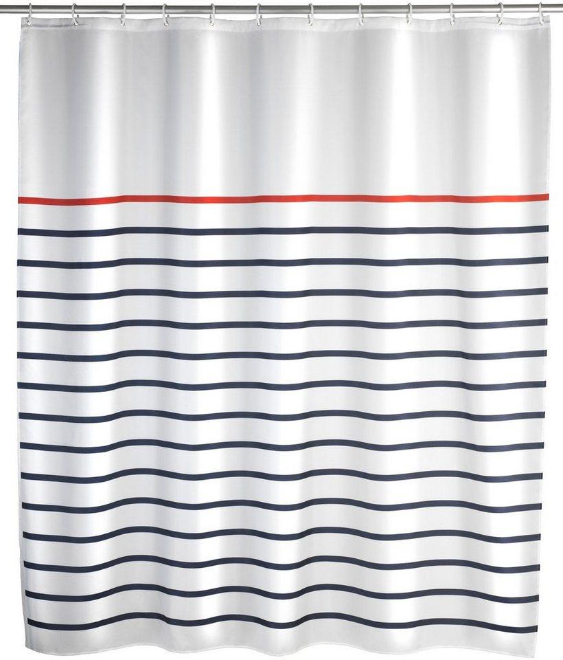 Duschvorhang »Marine« in blau/weiß