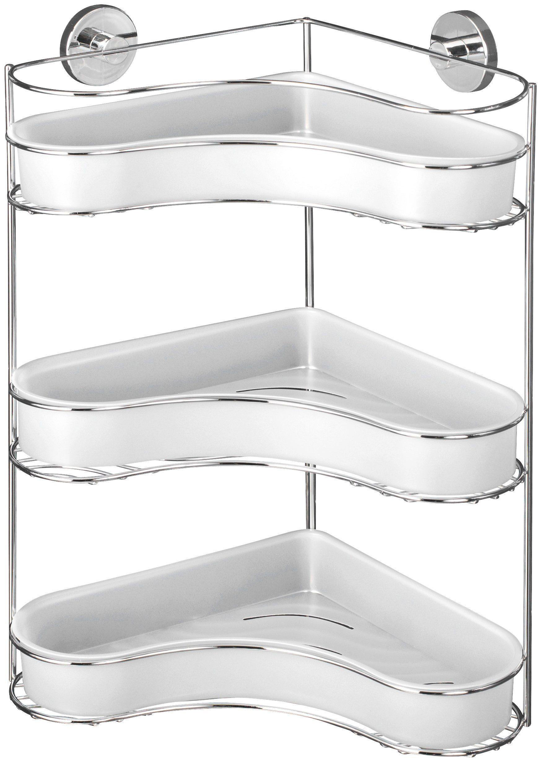 WENKO Duschablage »Milazzo«, Eckregal mit 3 Etagen, Vacuum-Loc