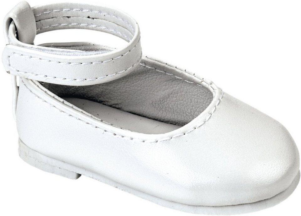 Käthe Kruse Puppenschuhe, Größe ca. 39-41 cm, »Ballerinas« in weiß