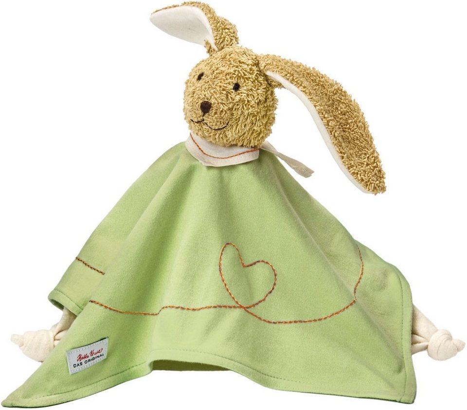 Käthe Kruse Schmusetuch mit Zipfeln, »Hase Pino« in grün