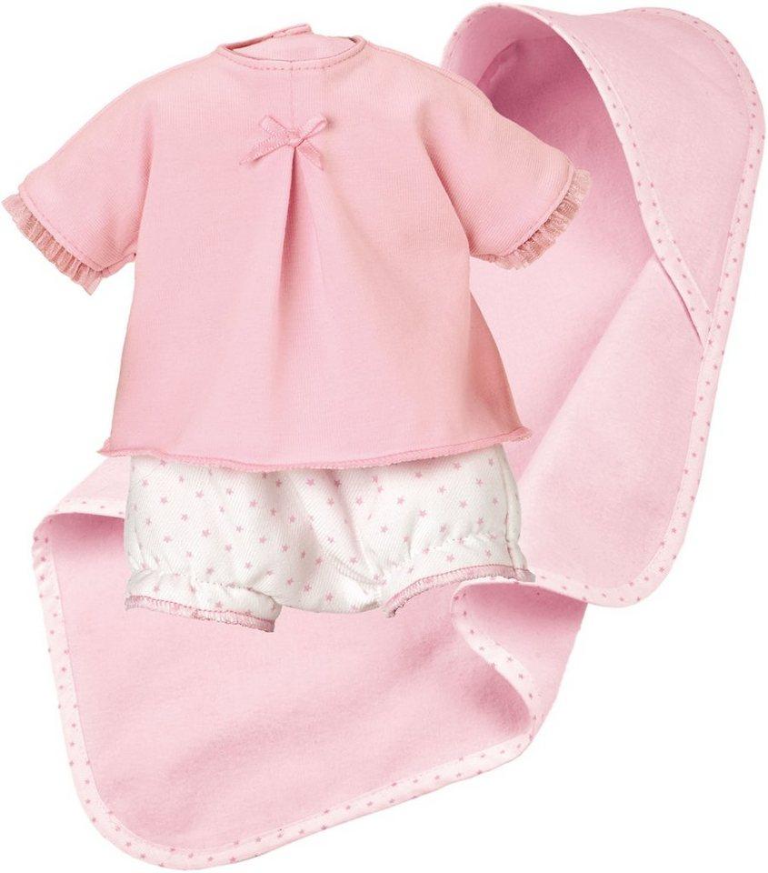 Käthe Kruse Puppenbekleidung, Größe ca. 30-33 cm, »Spielset mit Wickelhose und Tuch« in rosa