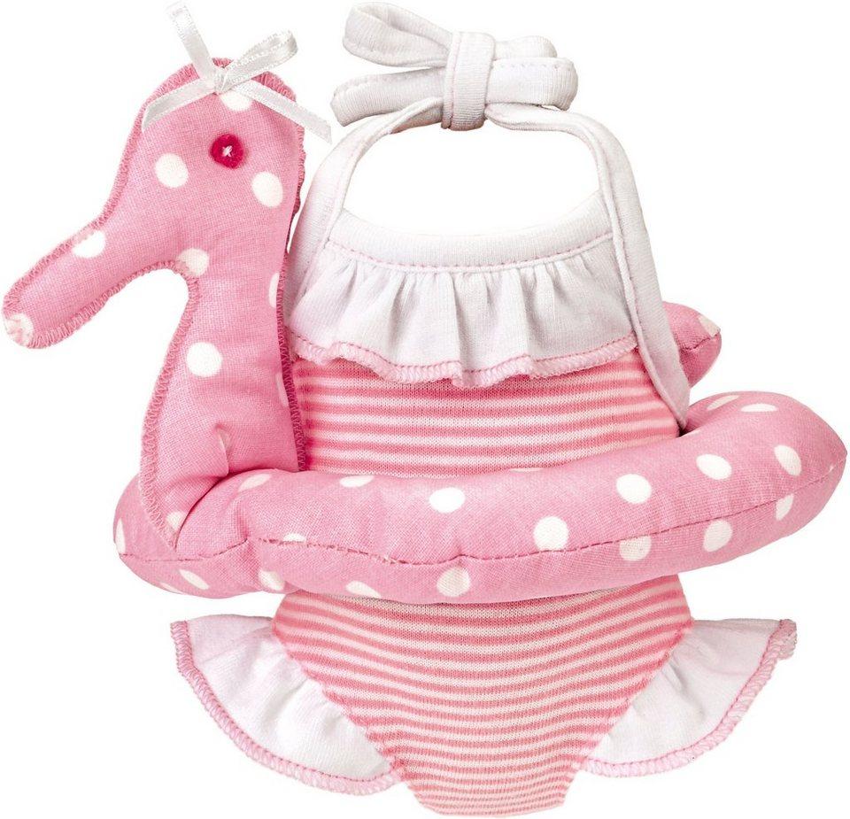 Käthe Kruse Puppenbekleidung, Größe ca. 30-33 cm, »Badeanzug mit Schwimmreifen 30-33 cm« in rosa
