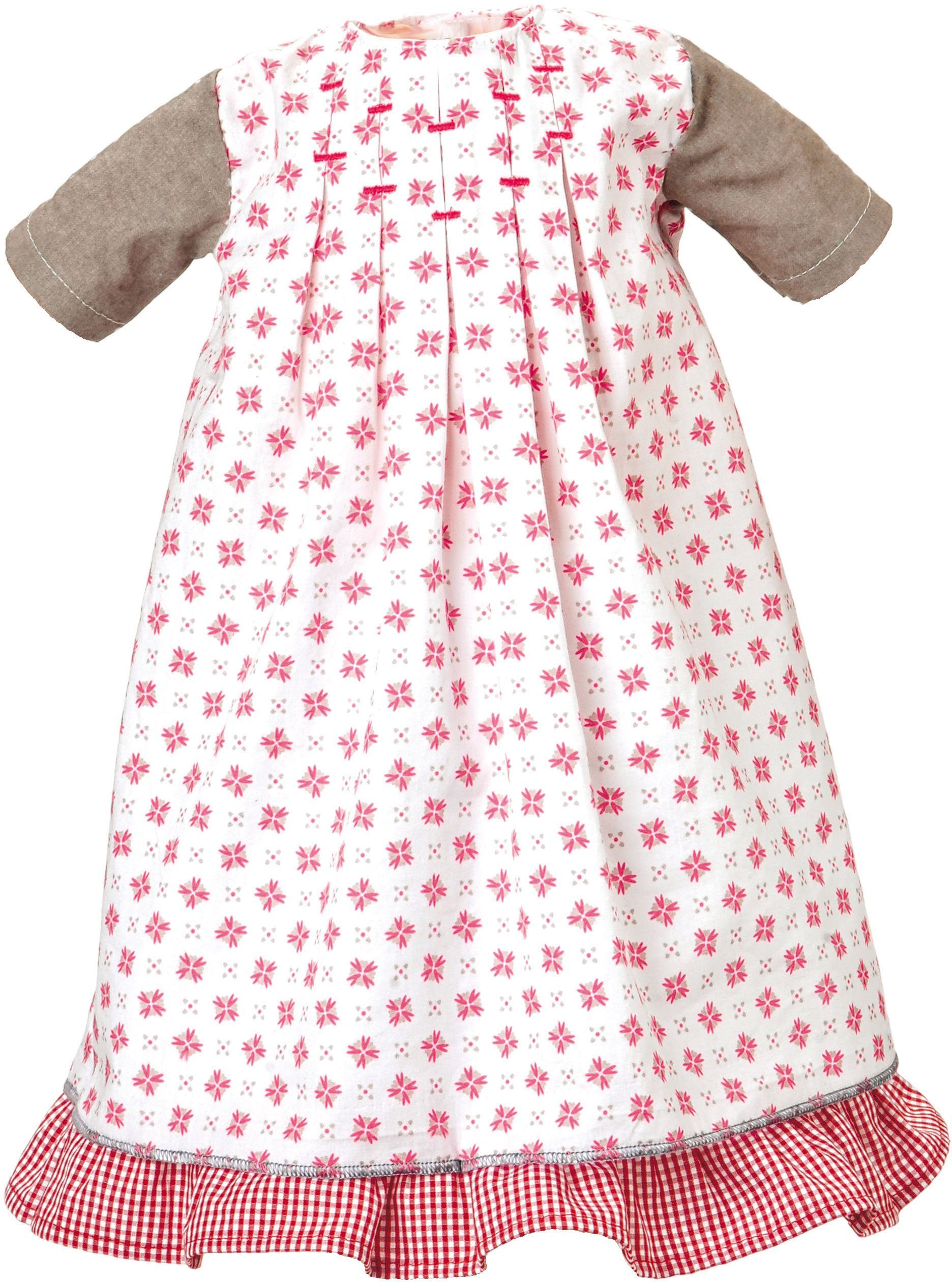 Käthe Kruse Puppenbekleidung, Größe 52-56 cm, »Kleid weiß-rot mit Unterrock«