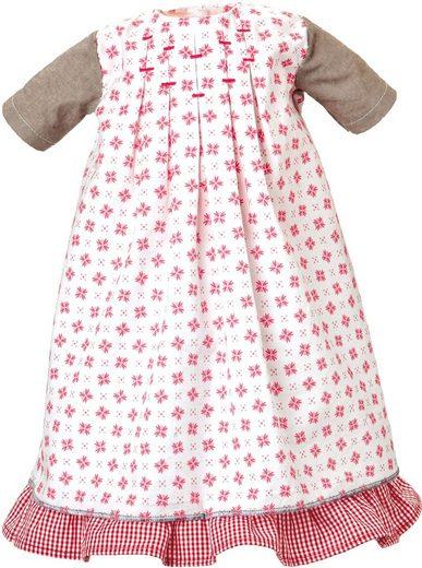 Käthe Kruse Puppenkleidung »Kleid weiß-rot mit Unterrock«