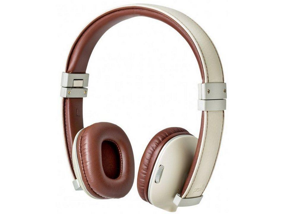 Polk Bluetooth On-Ear Kopfhörer »Hinge« in camel/white
