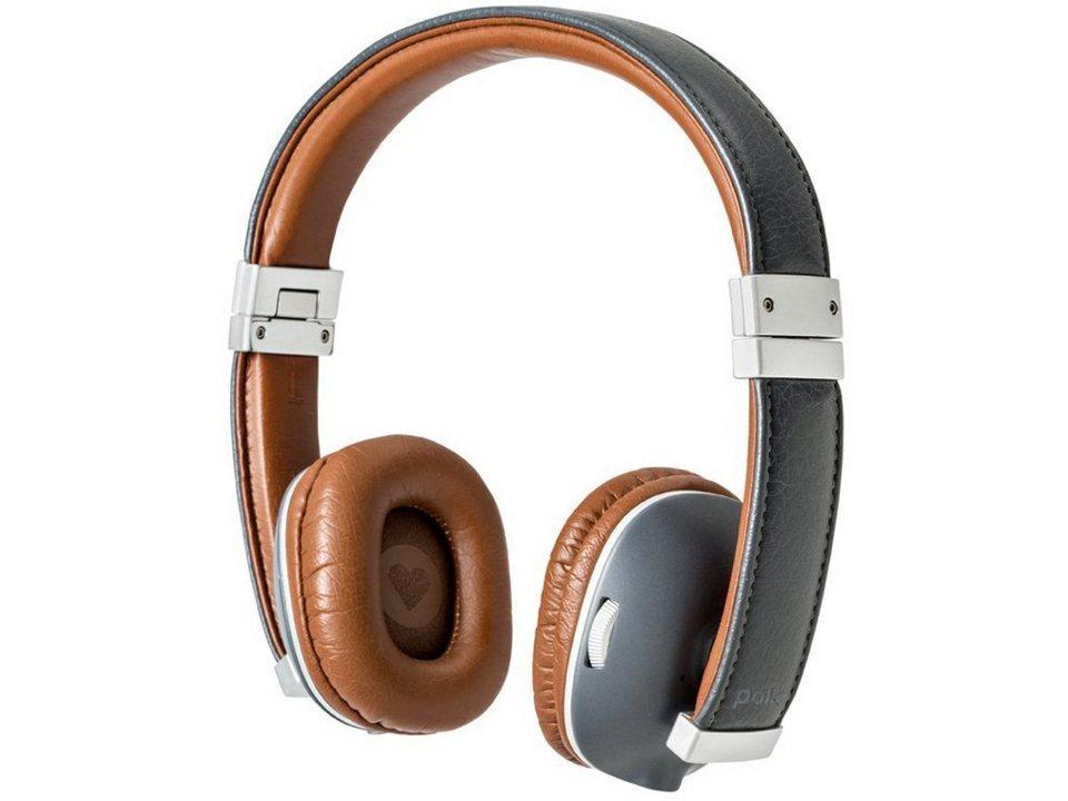 Polk Bluetooth On-Ear Kopfhörer »Hinge« in blue/brown