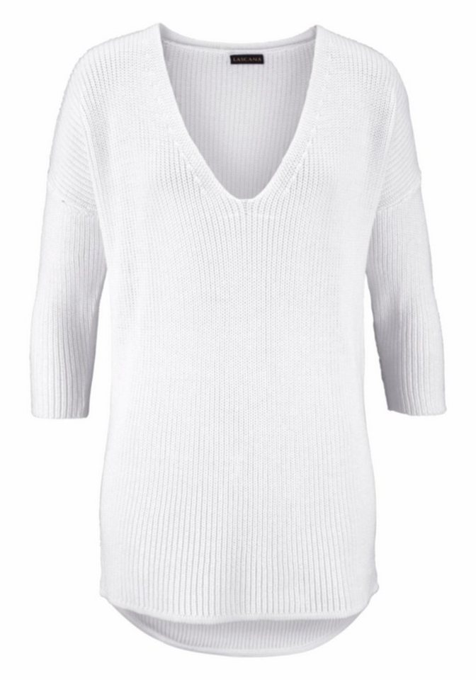 LASCANA Strandpullover in weiß