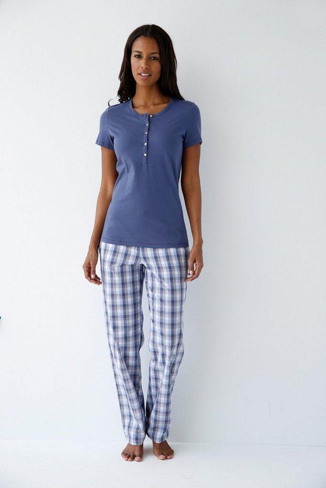 SCHIESSER Karierte Basic Loungehose aus gewebter Qualität in multicolor