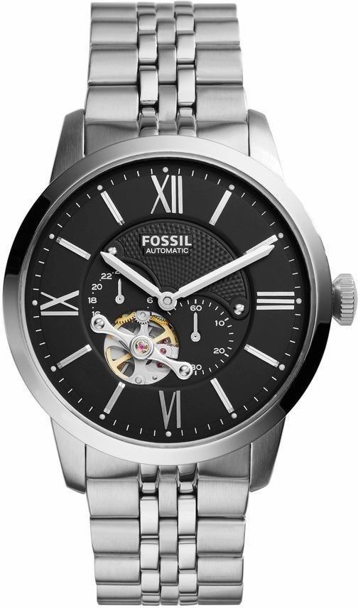 Fossil Automatikuhr »TOWNSMAN, ME3107« in silberfarben