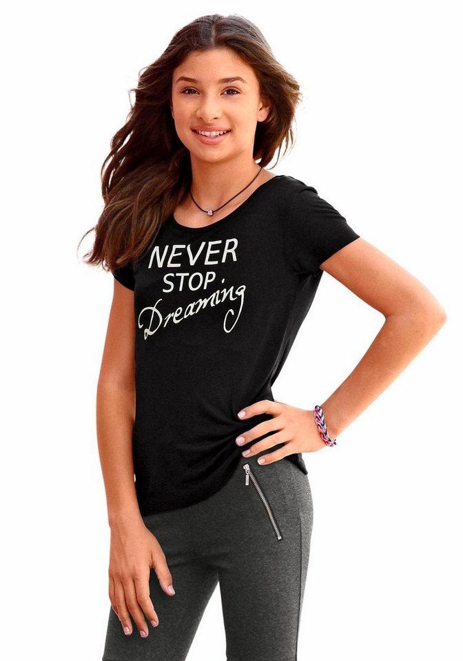 Arizona T-Shirt mit Frontdruck in schwarz