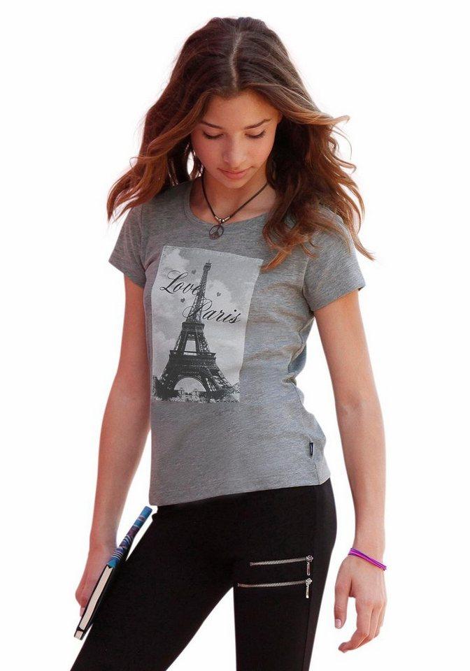 Arizona T-Shirt mit Fotodruck in grau-meliert