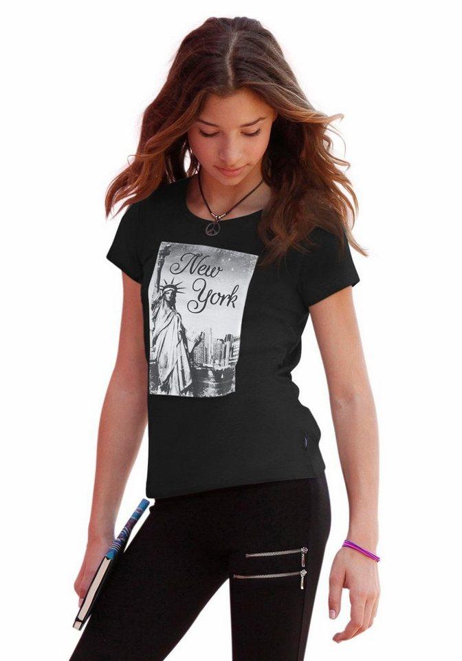 Arizona T-Shirt mit Fotodruck in schwarz
