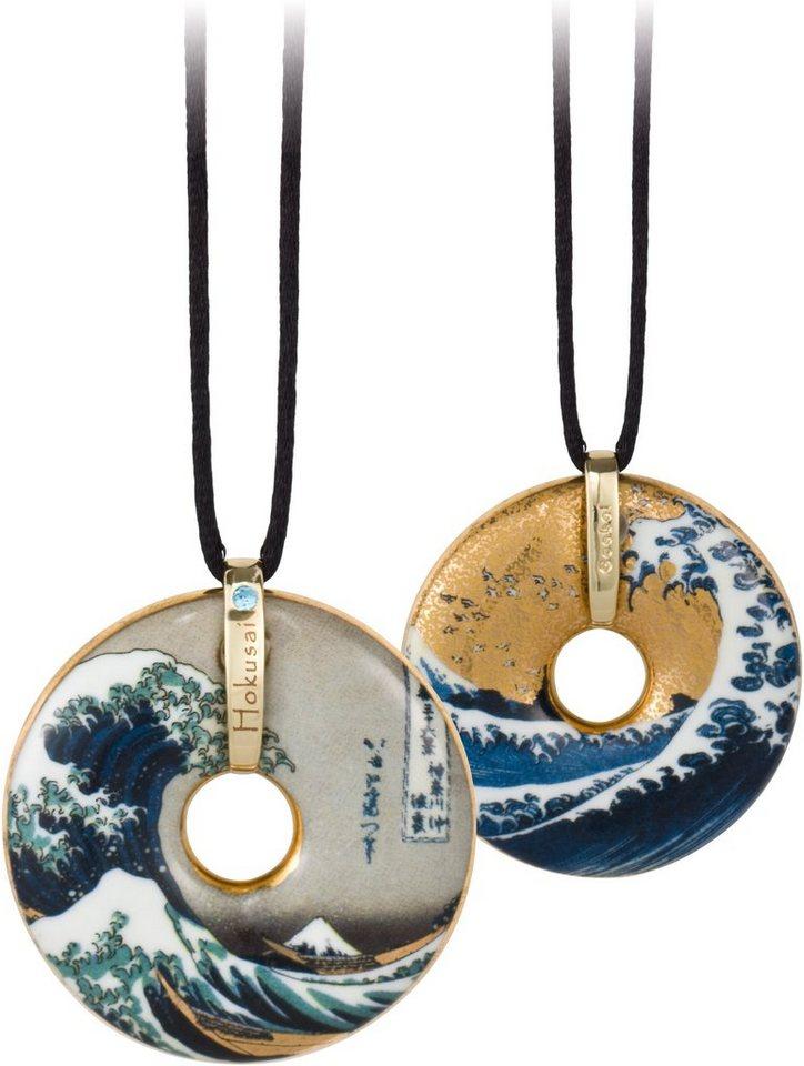 Goebel Kette mit Anhänger mit Swarovski® Kristall, »The Wave, 66989948« in goldfarben-vergoldet-bunt-schwarz