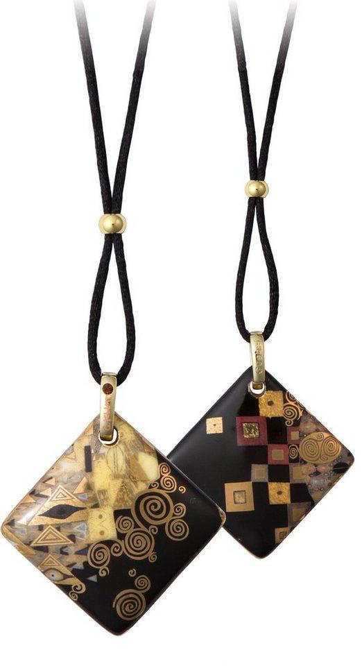 Goebel Kette mit Anhänger mit Swarovski® Kristall, »Adele Bloch-Bauer, 66999091« in goldfarben-vergoldet-schwarz