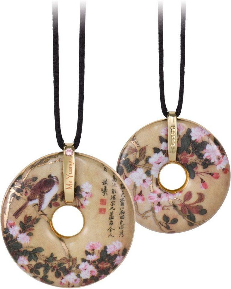 Goebel Kette mit Anhänger mit Swarovski® Kristall, »Apple Blossoms, 66989963« in goldfarben-vergoldet-beige-schwarz