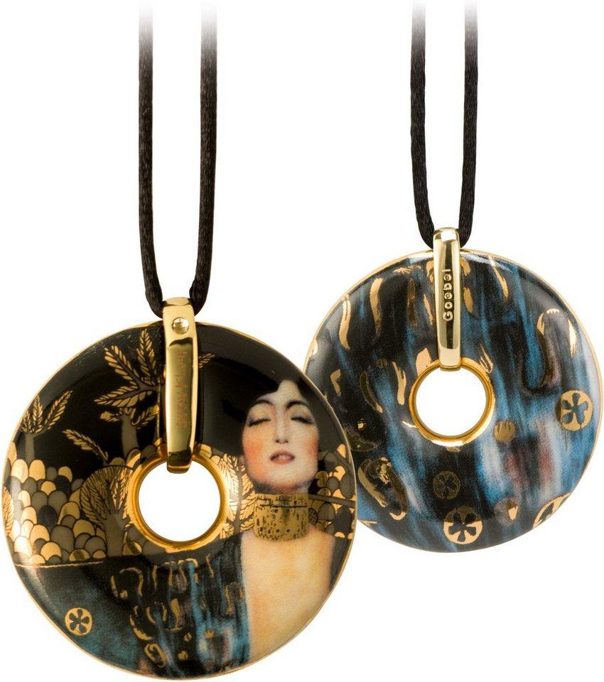 Goebel Kette mit Anhänger mit Swarovski® Kristall, »Judith I, 66989591« in goldfarben-vergoldet-bunt-schwarz