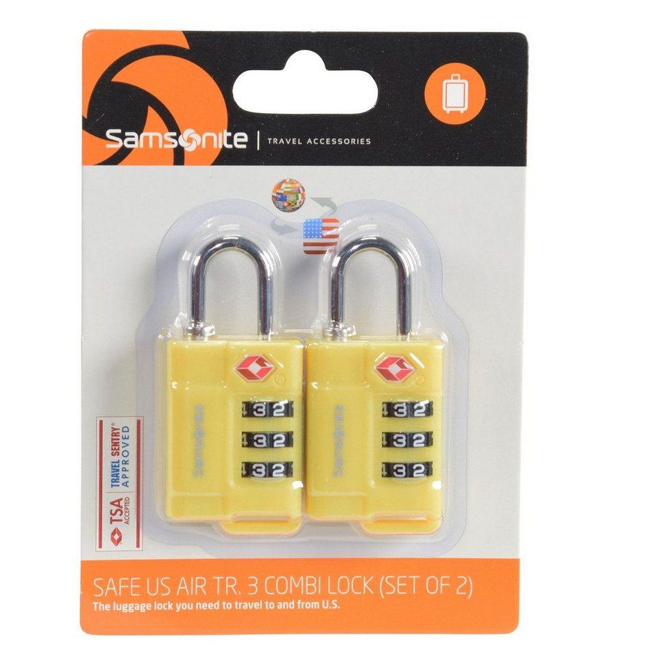 Samsonite Samsonite Accessories Reise-Sicherheit TSA-Vorhängeschloss 2er in yellow