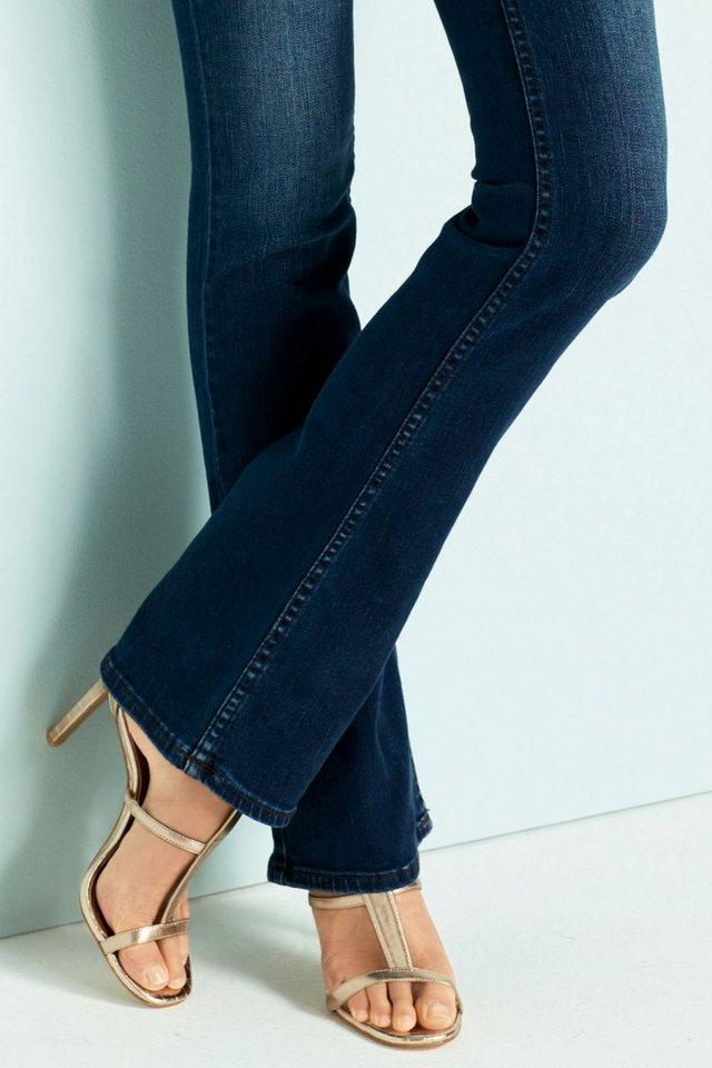 Next Hoch geschnittene Jeans mit Figurformung und Bootcut-Schnitt in Royalblau
