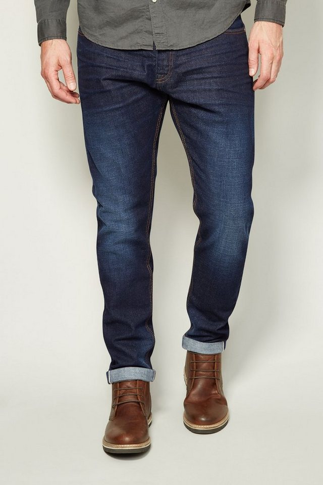 Next Tapered-Fit Dark Wash Selvedge-Stretch-Jeans in Blau Tapered-Fit