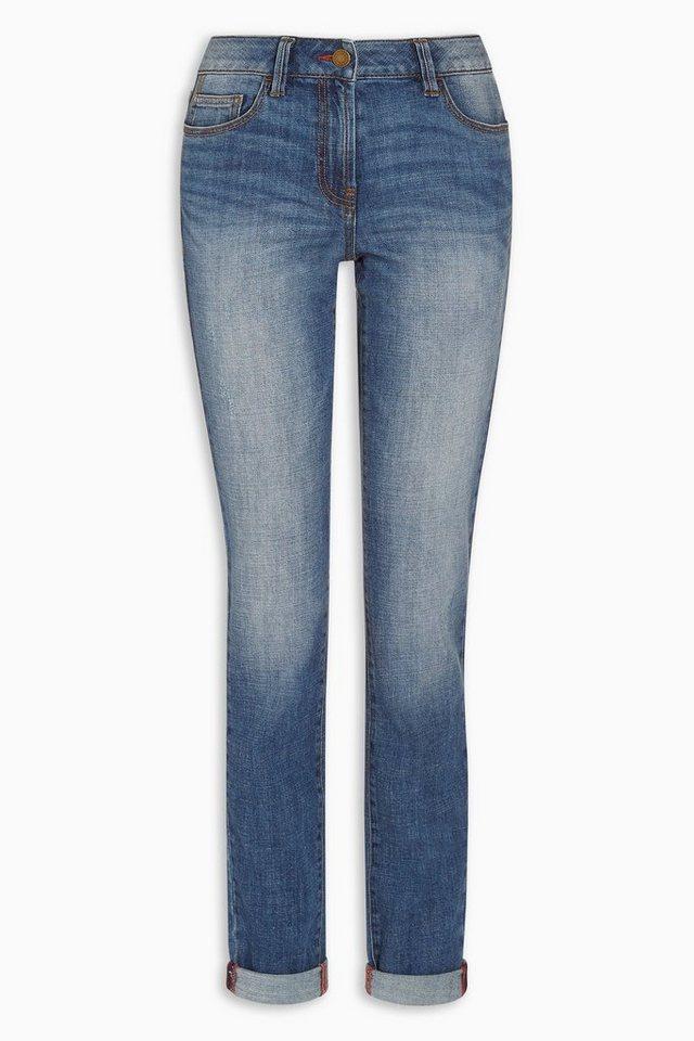 Next Lässige Skinny-Jeans in Mittelblau