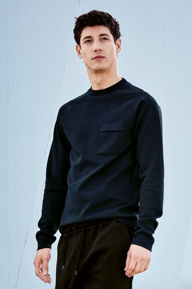 Next Sweatshirt mit Brusttasche in Blau