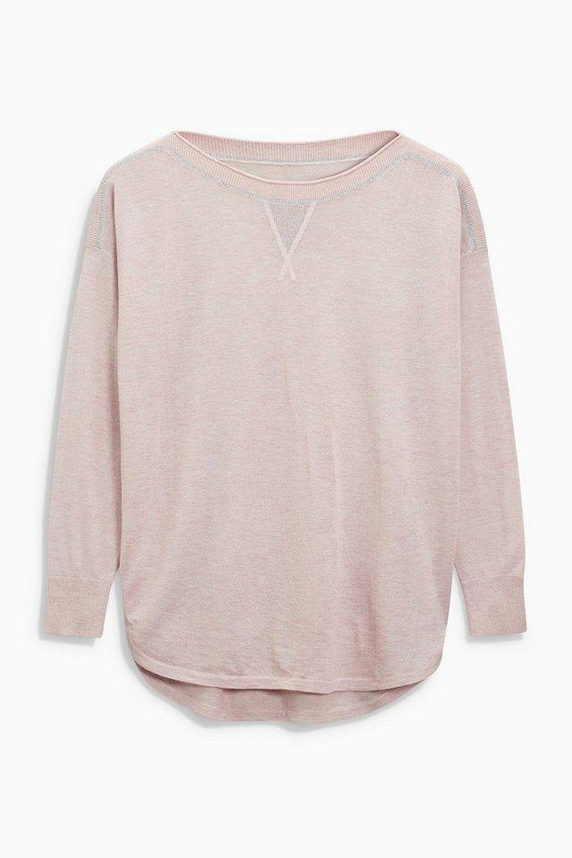 Next Shirt mit Metallic-Detail in Rosé