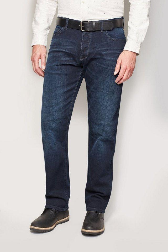 Next Straight-Fit Ink Blue Stretch-Jeans mit Gürtel 2 teilig in Blau Straight-Fit