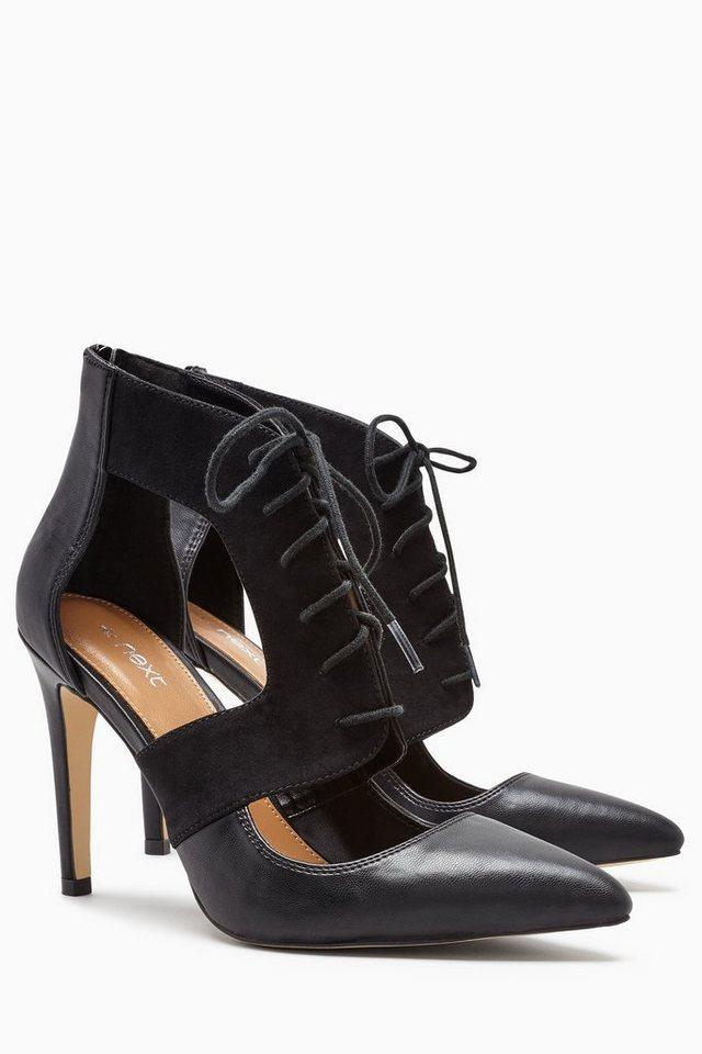 Next Sandalette mit Schnürung in Schwarz