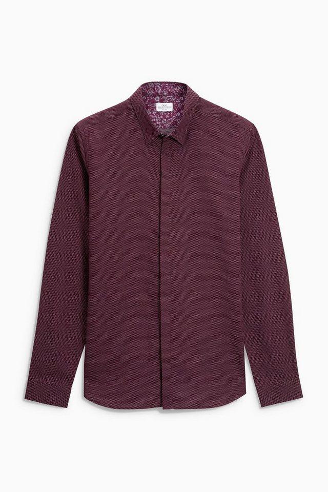 Next Hemd mit schmalem Kragen in Rot