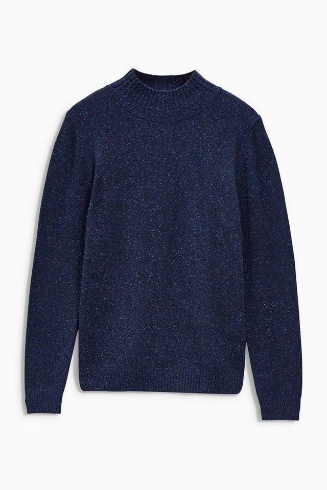 Next Pullover mit angedeutetem Rollkragen in Blau